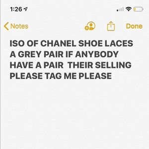 ISO of Chanel grey laces